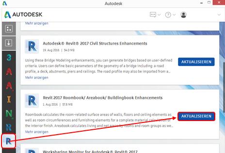 Autodesk Obefläche Aktualisierung