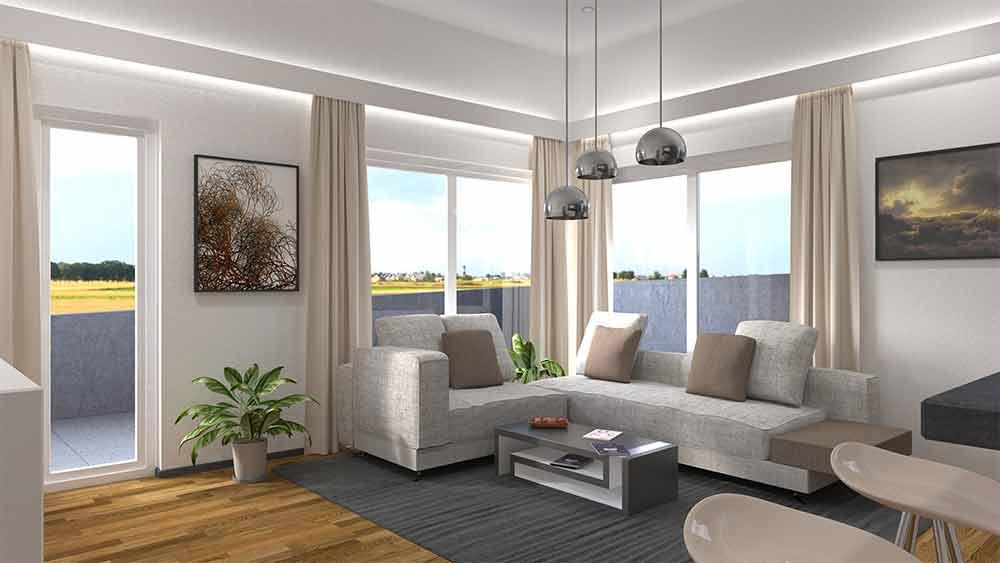 Wohnzimmer Rendering